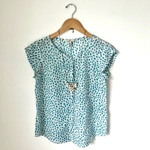 Joie printed button front silk top